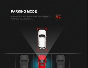Image showing the parking mode of the Viofo A 129 Car Dash Camera