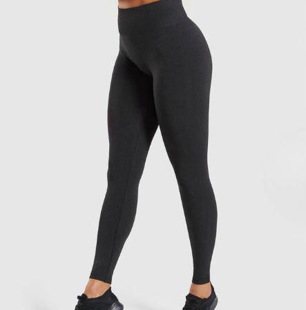 Women Black Yoga Pants being modelled