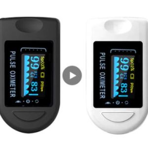 a Black and a White Colored Blood Oxygen Meter