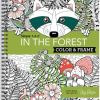Cover page for In The Forest Adult Coloring Book