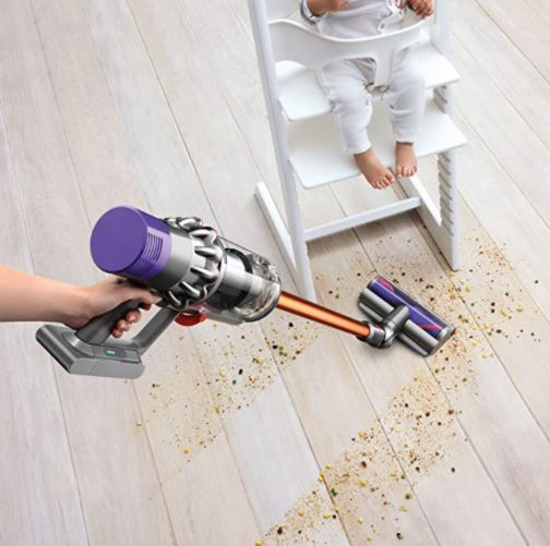 Dyson Cordless Stick Vacuum Clearner Cleaning Floor