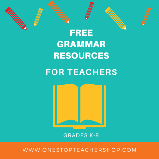A collection of FREE Grammar Resources for teachers! These printable and digital Grammar Practice activities are perfect for daily review, language arts centers, distance learning, homework, morning work, and more! Be sure to download them all! Available for 1st Grade, 2nd, 3rd, 4th, 5th, 6th, 7th, and 8th.