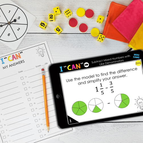 I CAN Mini Digital Math Games break down math standards into fun-sized pieces for students. These math centers were created to provide students with repeated practice on specific skills so that mastery can be obtained. Help students EXACTLY where they are!