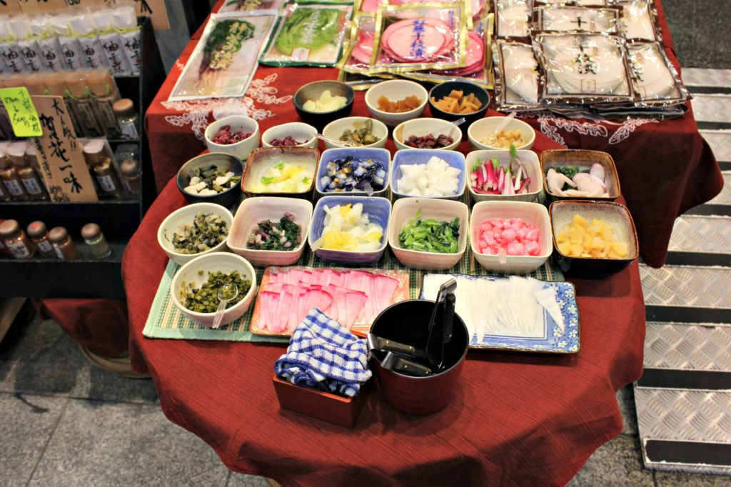 assaggi mercato kyoto