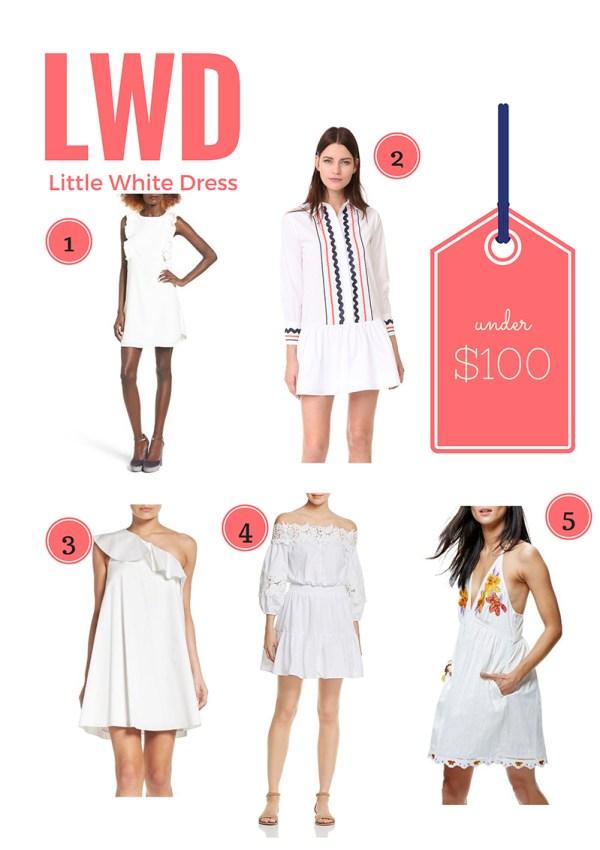 Little White Dress for Spring
