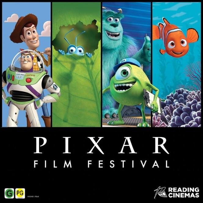 Giveaway! Win 1 of 2 Family Movie Passes to Pixar Film Festival at Reading Cinema. Image via Reading Cinemas | onetakekate.com