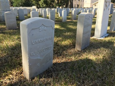 Some buried at the St. Augustine National Cemetery are marked unknown.