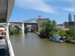 A river cruise is a great way to see the many bridges over the Cuyahoga River