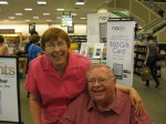 Posing for a picture with a fan at Barnes and Noble, Westlake, O