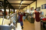 56 foot long deli counter at Planktown Market has 17 clerks waiting on customers