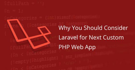 Laravel For Next Custom PHP Web App