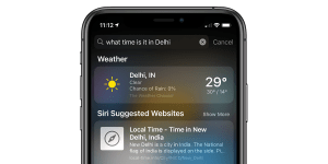 Apple Search Weather