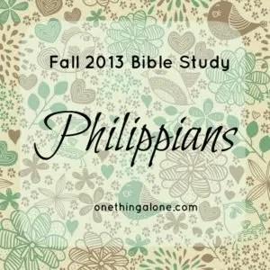 Fall 2013 Bible Study Philippians