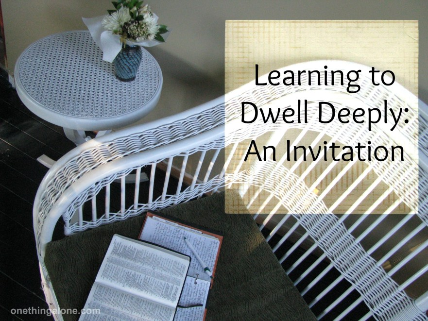 dwell deeply, bible study, wicker seat, evening light, prayer, peaceful