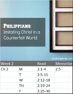 Philippians 2 reading schedule