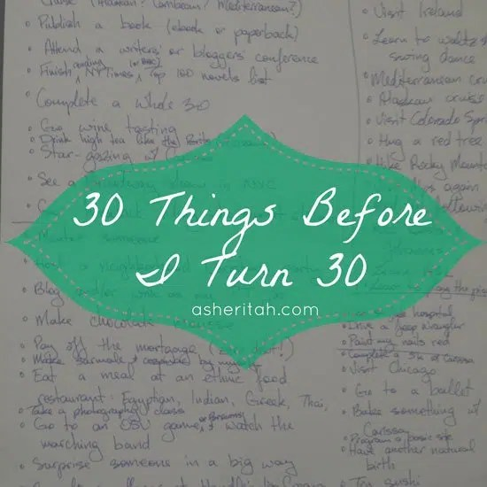 30 Things to Do Before I Turn 30 #bucketlist