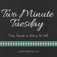 Two Minute Tuesday button for video linkups