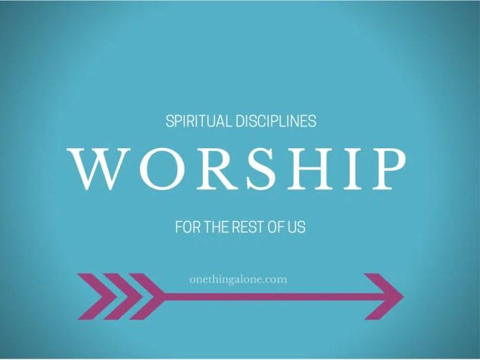 Spiritual Disciplines (3)