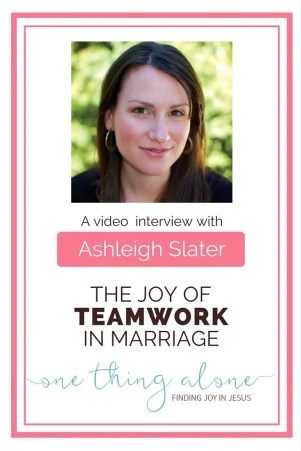 the joy of teamwork in marriage