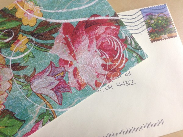 Sometimes sending letters can encourage people when they need it most