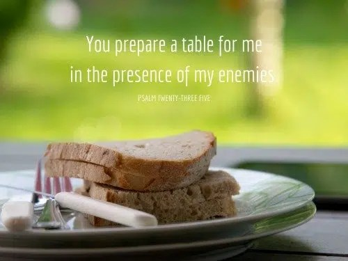 You prepare a table for me