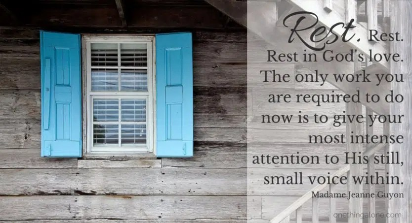 When you're staring at closed doors and don't know what to do, rest in God's love.