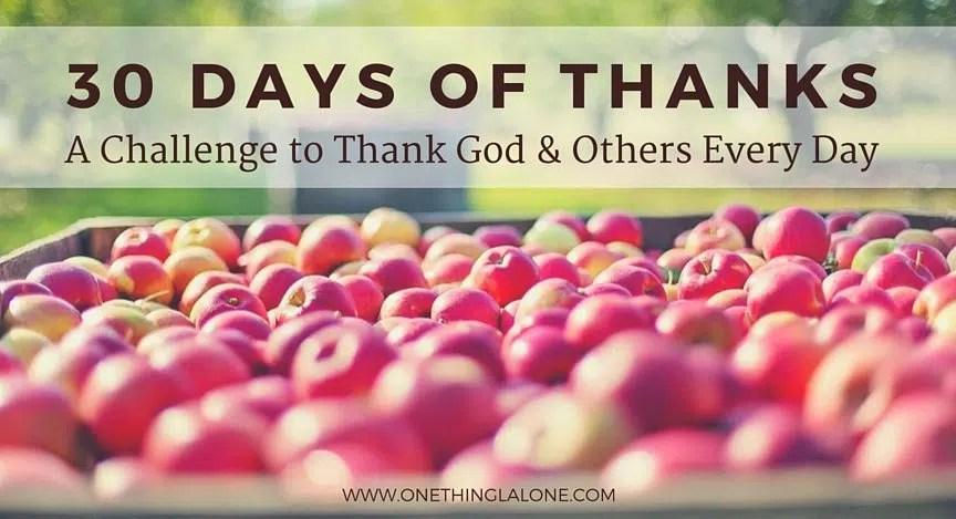 30 days of thanks