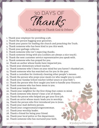 30 Days of Thanks: How to Take Your Thanksgiving ...