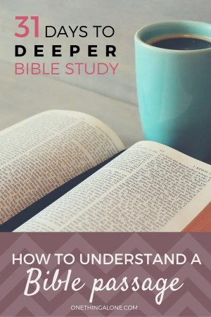 If you're trying to understand a Bible passage, try writing down your observations. This post explains exactly how to do that.