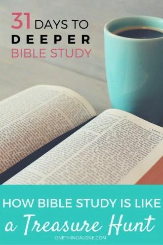 How Bible study is like a Treasure Hunt