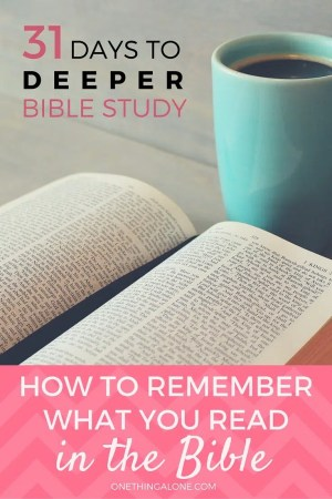 If you're trying to remember what you read in the Bible, the key is to read the passage over and over again, emphasizing something different each time. This post shows you how...