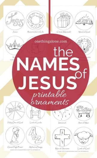 What a great idea! Coloring ornaments to help children learn about the names of Jesus as they prepare to celebrate His coming!