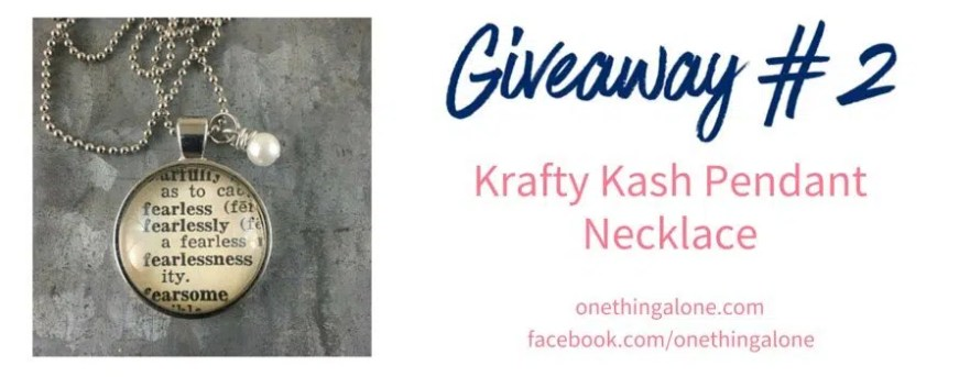 Giveaway 2 Krafty Kash necklace