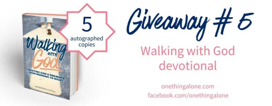 Giveaway 5 Walking with God devotional
