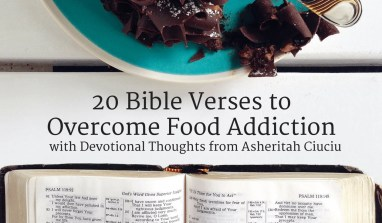 Get a collection of 20 Bible memory cards to help you overcome food addiction