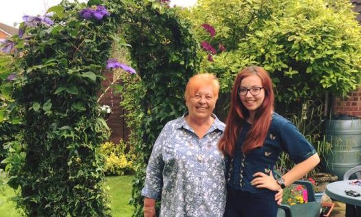Down-time in the garden with my grandmother, visiting from the Czech Republic