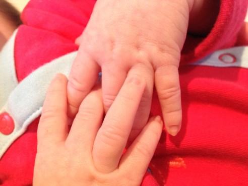 Those little fingers!