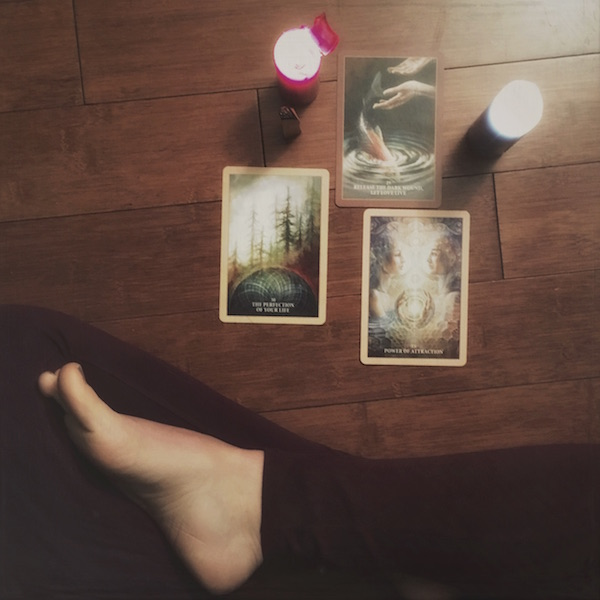 picture of sacred rebel oracle card reading