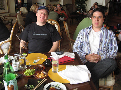 Robert Scoble and Jeremy Wright enjoying Mojitos and sushi at the Ritz-Carlton Half Moon Bay.