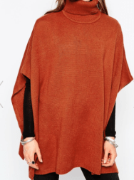 First & I Roll Neck Poncho from Asos