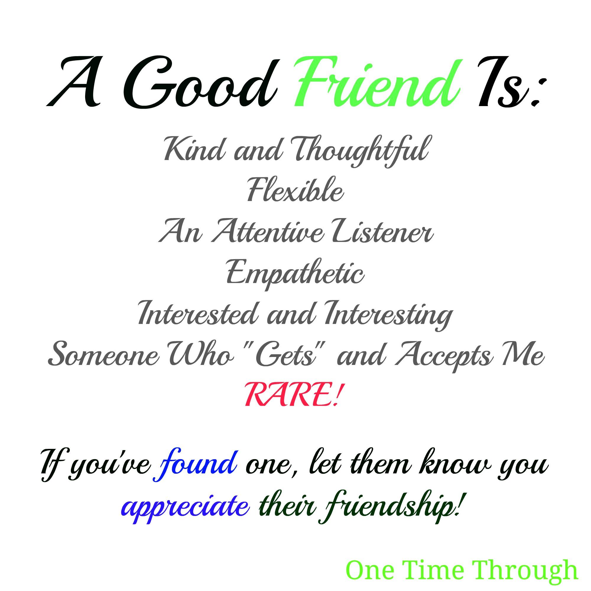 Characteristics Of A Friend Worksheet