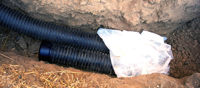 weeping tile drainage system