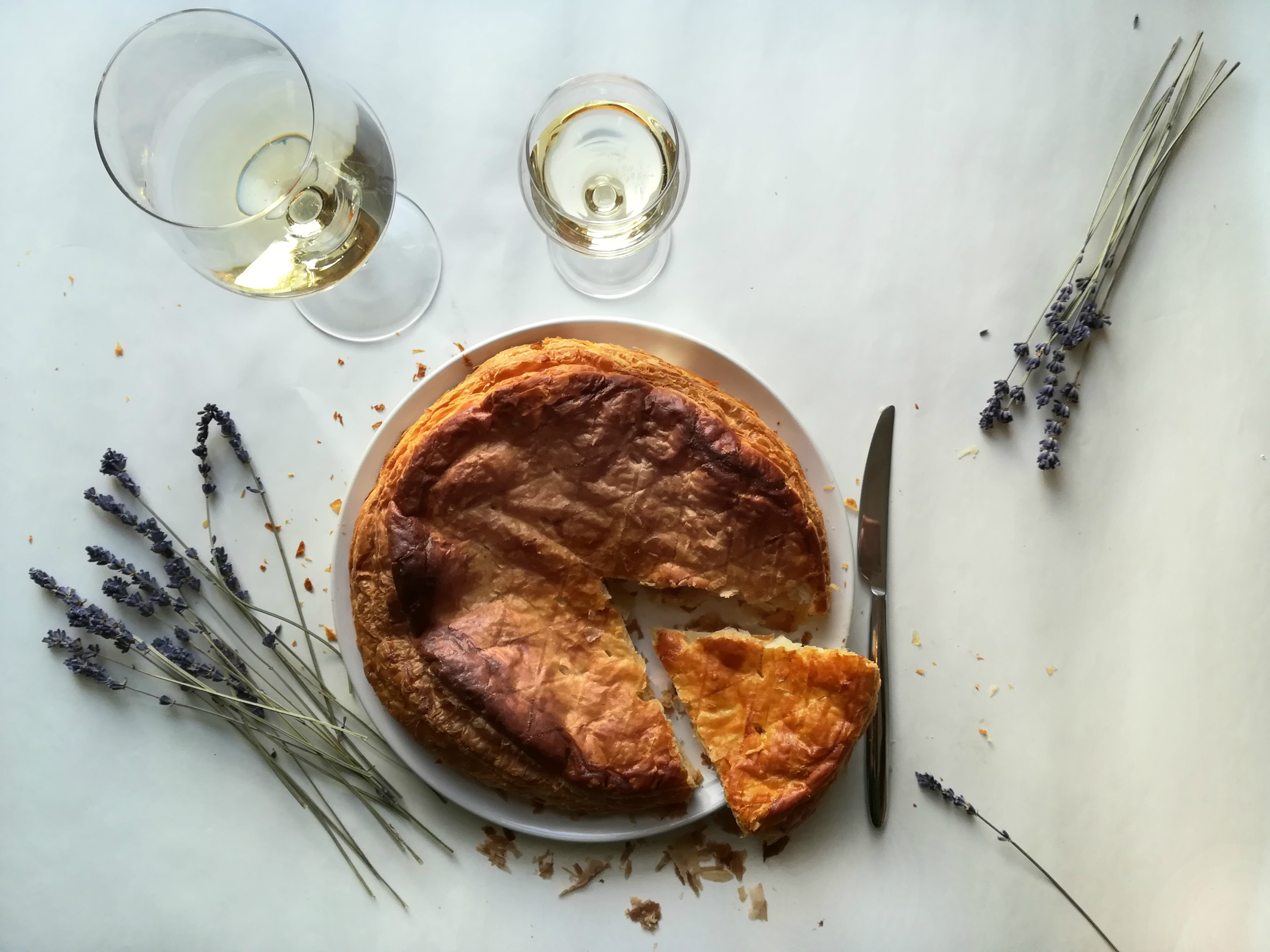 Galette des Rois and one to wine