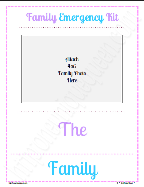 Family Management & Emergency Plan Binder
