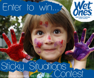 [Mom Central] Wet Ones: Sticky Situations