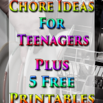 Chore Ideas For Teenagers