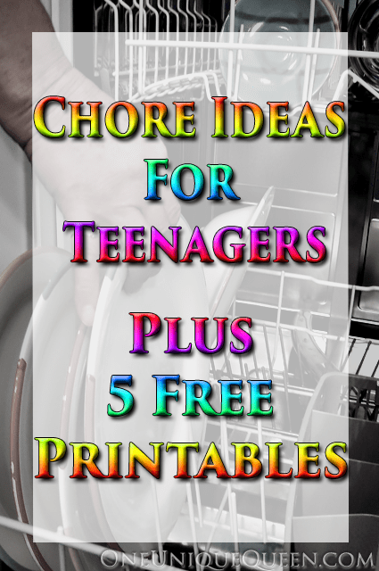 Chore Ideas For Teenagers Plus 5 Free Printables