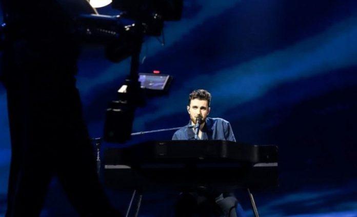 Duncan Laurence at Eurovision 2019 in Tel Aviv