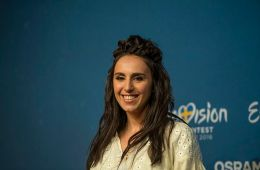 Jamala at a Meet & Greet during the Eurovision Song Contest 2016 in Stockholm.