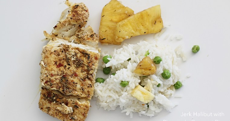 Jamaican Jerk Fish with Pineapple-Coconut Rice